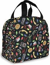 Stranger Things Black Lunch Bag for Men Women