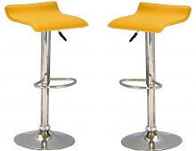 Stratos Bar Stool In Yellow PVC and Chrome Base In