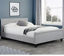 Stratus Grey Fabric Sleigh Bed Frame - 4ft Small
