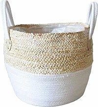Straw Flower Pot Seagrasss Baskets Picnic Plant