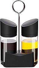 STRAW Kitchen Spice Jar Glass Spice Bottles with