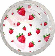 Strawberries Red White Drawer Handles Furniture