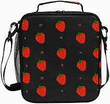 Strawberry Gray BlueLunch Box Insulated Soft Bag