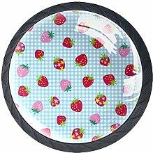 Strawberry Pattern (2) 4 Packs Kitchen Cabinet
