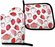 Strawberry Pink and Red Yellow Lemon Oven Mitts