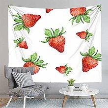 Strawberry Print Beach Mat Wall Tapestry Hippie