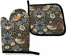 Strawberry Thieves by William Morris Oven Mitts
