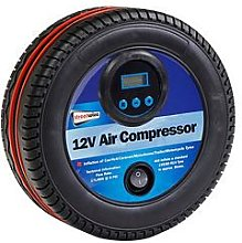 Streetwize Accessories 12V Air Compressor Tyre Shape With Digital Gauge
