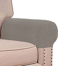 Stretch Armrest Covers Set Of 2, Soft Jacquard
