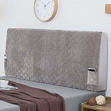 Stretch Bed Headboard Cover, Crystal Velvet