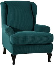 Stretch Box Cushion Wingback Chair Slipcover