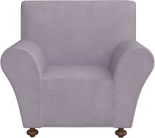Stretch Couch Slipcover Polyester Jersey Grey -