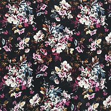 Stretch Fabric by The metre UK Elegant Floral