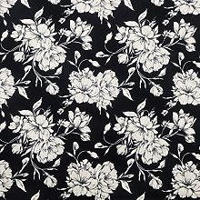 Stretch Fabric by The metre UK Floral Prints Cream