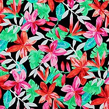 Stretch Fabric by The metre UK Tropical Leaves &