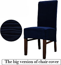 Stretch Non-slip Stretch Dining Chair Slipcover Dark Blue