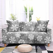 Stretch Sofa Covers,Grey Snowflake Printed Stretch