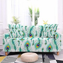 Stretch Sofa Covers,Stretch Printed Green Feather