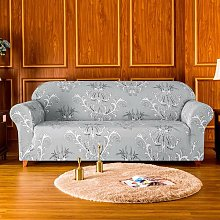 Stretchy Printed Box Cushion Sofa Slipcover