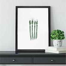 Striking Asparagus Wall Art | Kitchen Decor Print