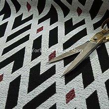 Striking Diamond Geometric Pattern White Black Red