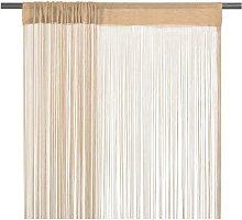 String Curtains 2 pcs 100x250 cm Beige750-Serial