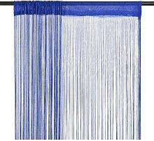 String Curtains 2 pcs 100x250 cm Blue - Blue -