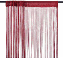 String Curtains 2 pcs 100x250 cm Burgundy - Red -