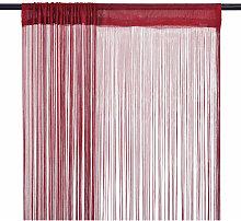 String Curtains 2 pcs 100x250 cm Burgundy - Red