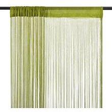 String Curtains 2 pcs 100x250 cm Green - Green -