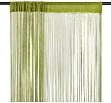 String Curtains 2 pcs 100x250 cm Green758-Serial