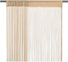 String Curtains 2 pcs 140x250 cm Beige751-Serial