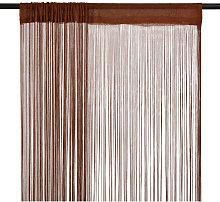 String Curtains 2 pcs 140x250 cm Brown757-Serial