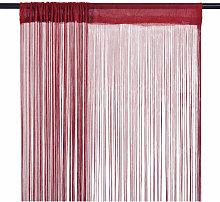 String Curtains 2 pcs 140x250 cm Burgundy - Red