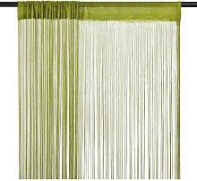 String Curtains 2 pcs 140x250 cm Green759-Serial