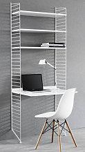 String Desk - L 78 x H 200 cm by String Furniture