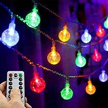String Fairy Lights, 24 ft/50 LED Globe Fairy