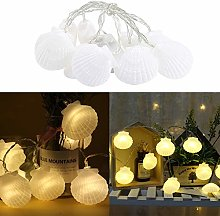 String Light Sea Shells Led Fairy Lights Battery