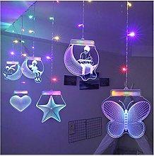 String lights 2M*0.7M 3D Romantic Cutrain Lights