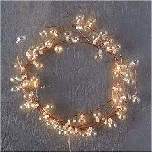 String lights 50 LED Copper String Bulbs Glass