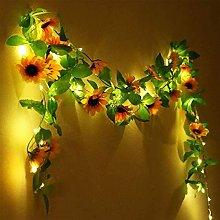 String Lights Artificial Plants Roses Led String