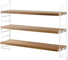 String - Oak And White Pocket Bookshelf -