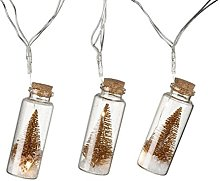 String of Gold LED Mini Mason Jar Bottle Fairy