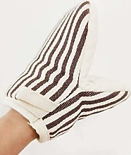 Stripe Oven Mitts with Duck-bill Design Cotton