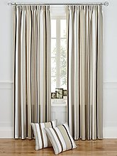 Stripe Printed Lined Tape Top Curtains (Pair) -