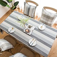 Striped cotton linen tablecloth Nordic style