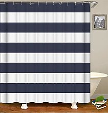 Striped Decoration. Blue And White Stripes. Shower