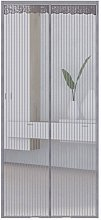 Striped mosquito curtain, magnetic mosquito screen