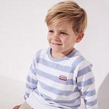 Striped Sweatshirt (1-6yrs), Blue Stripe, 2-3yrs