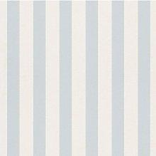Stripes Kids Room Light Blue and White Nursery